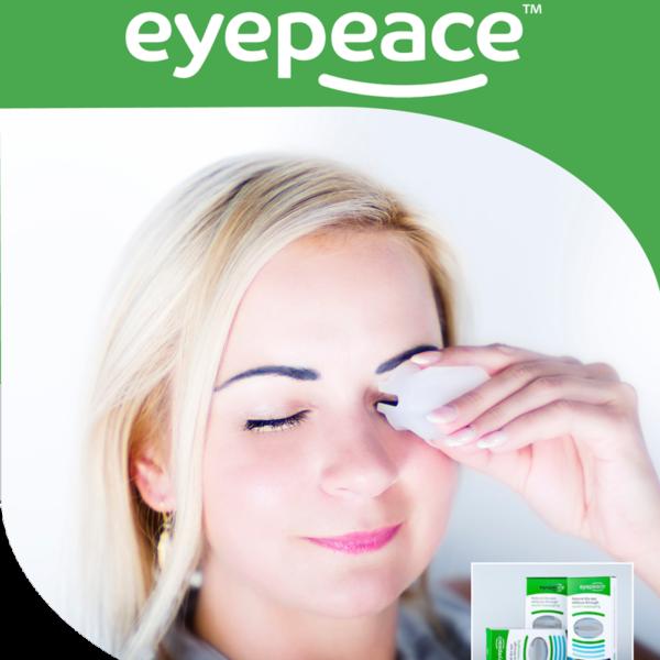 EyePeace, un dispositivo de masaje de párpados seguro y eficaz para ojo seco, blefaritis y disfunción de las glándulas de Meibomianas.
